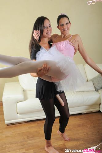 Agnes, Roxie - Ballerina strapon fucked! (2020/HD)